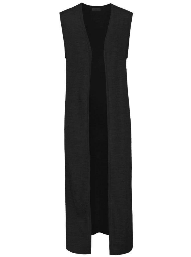 Černá dlouhá svetrová vesta Jacqueline de Yong Copa