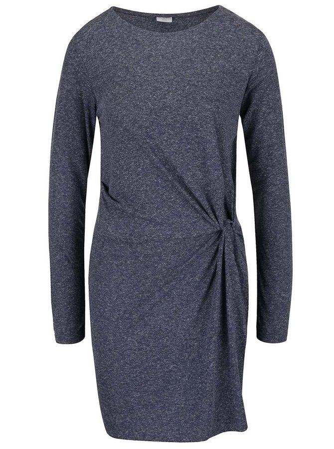 Tmavě modré žíhané šaty s nařasením v boku Jacqueline de Yong Zada