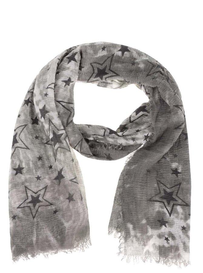 Eșarfă kaki Haily´s Estefania cu imprimeu stele