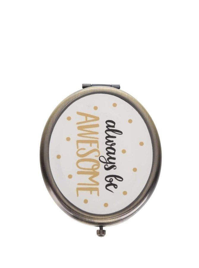 Kompaktní zrcátko s puntíky Sass & Belle
