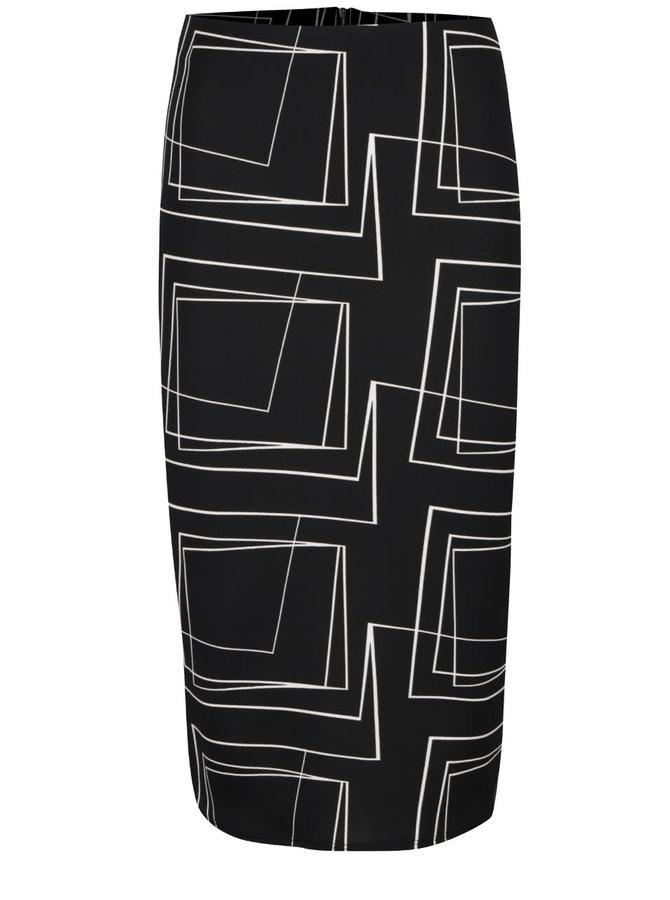 Černá vzorovaná sukně Dorothy Perkins