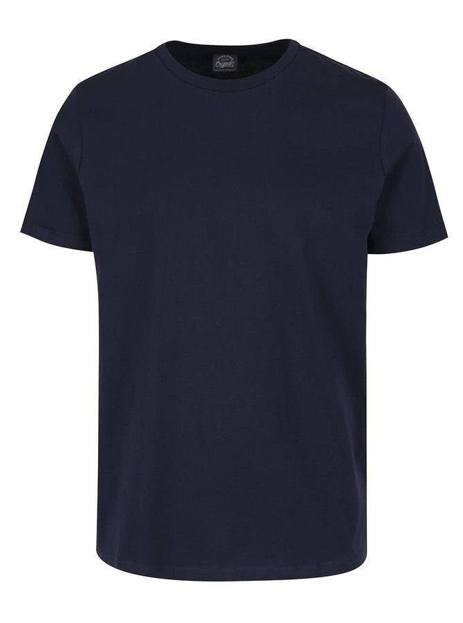 Tmavě modré basic triko s krátkým rukávem Jack & Jones Basic