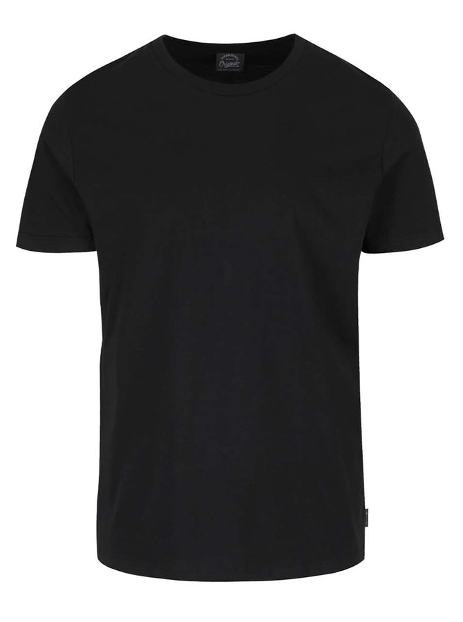 Černé triko s krátkým rukávem Jack & Jones Basic
