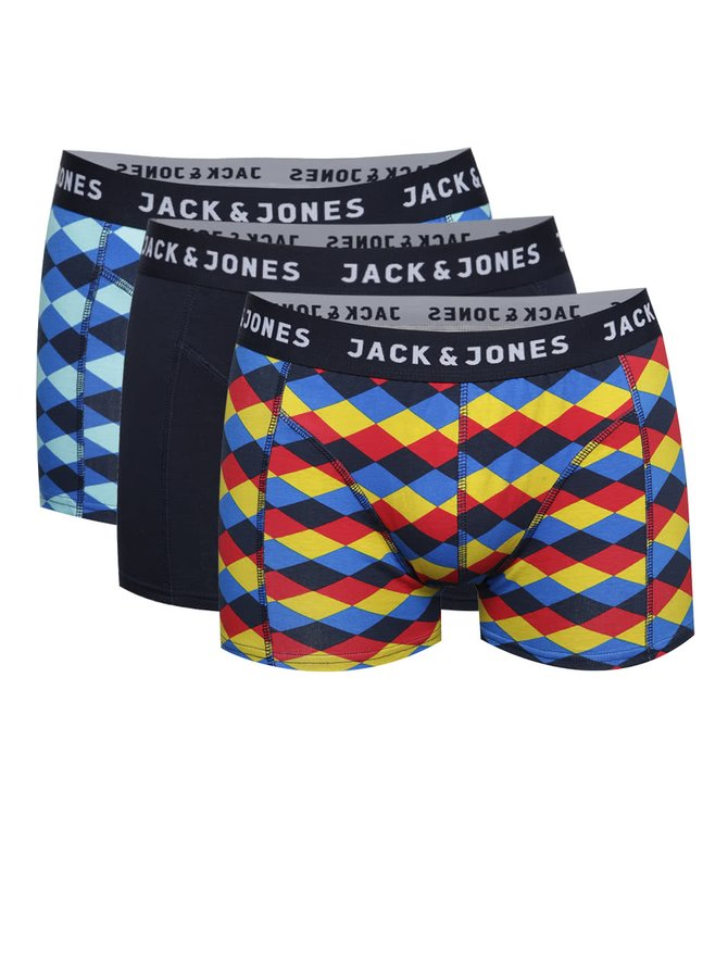 Set 3 perechi boxeri bleumarin/multicolor Jack&Jones
