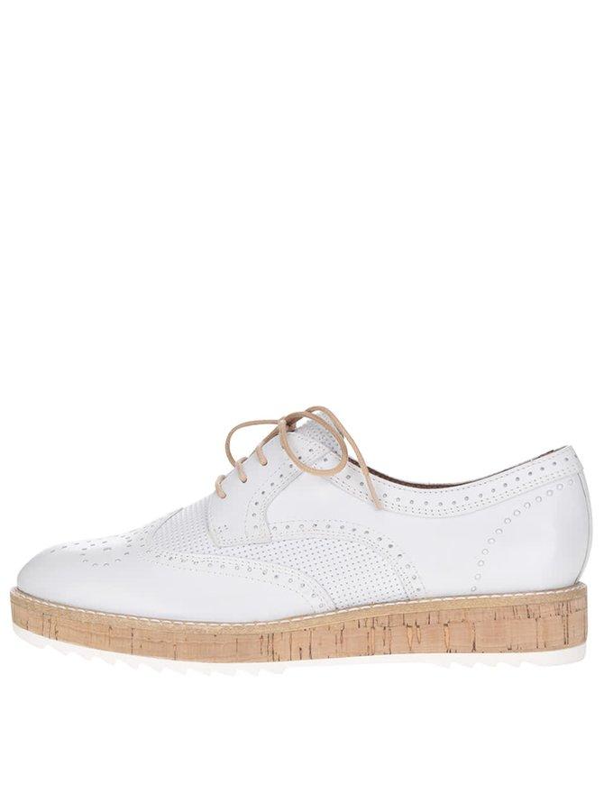 Pantofi brogue Tamaris crem