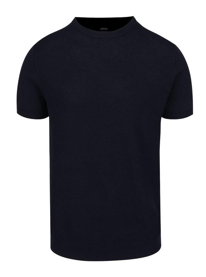 Tmavě modré triko Burton Menswear London