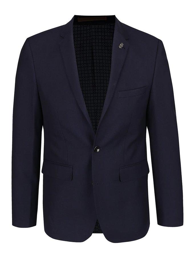 Tmavě modré oblekové slim fit sako Burton Menswear London