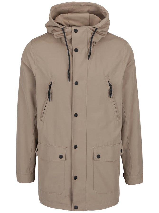 Jachetă bej Lindbergh cu glugă