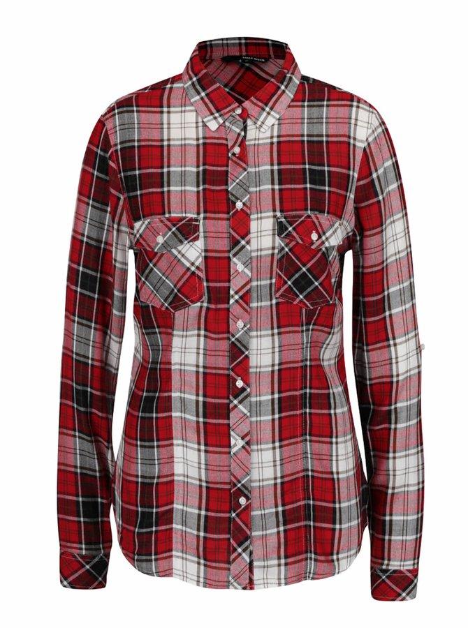 Červená kostkovaná košile s kapsami TALLY WEiJL