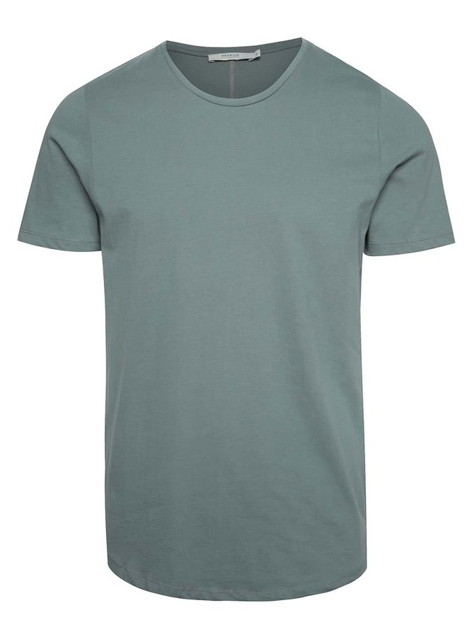 Šedozelené basic tričko pod košili Jack & Jones Hugo