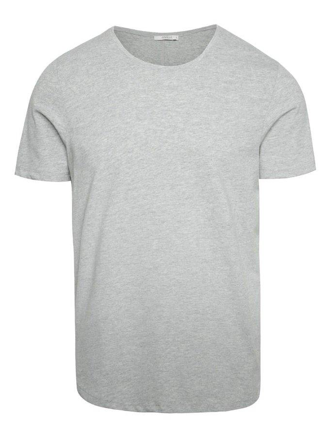 Světle šedé basic triko pod košili Jack & Jones Hugo
