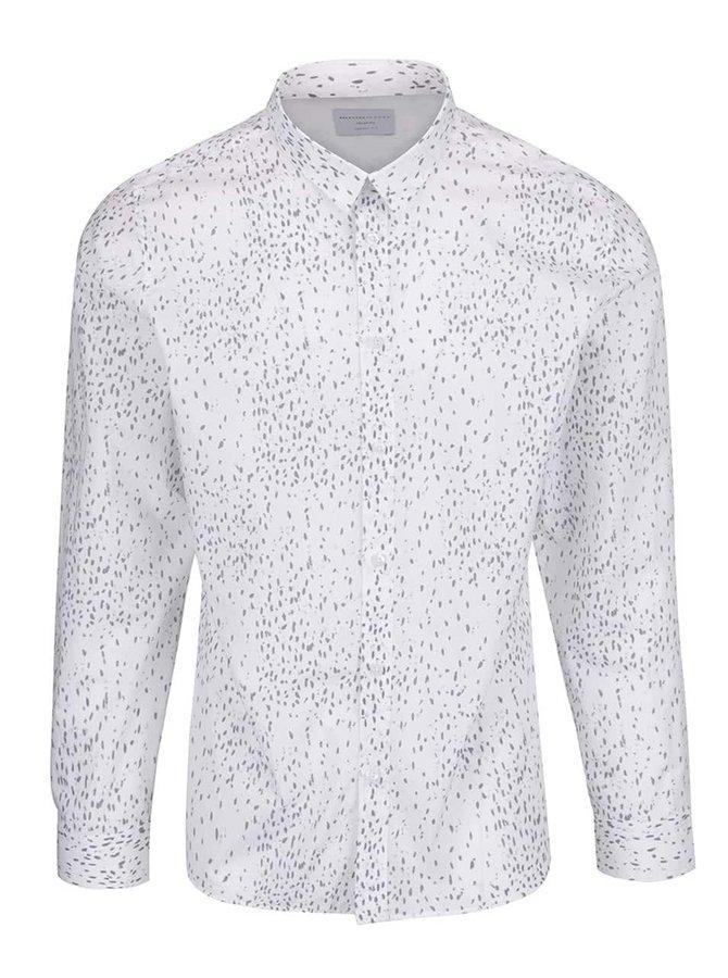 Bílá vzorovaná košile Selected Homme Two Paper