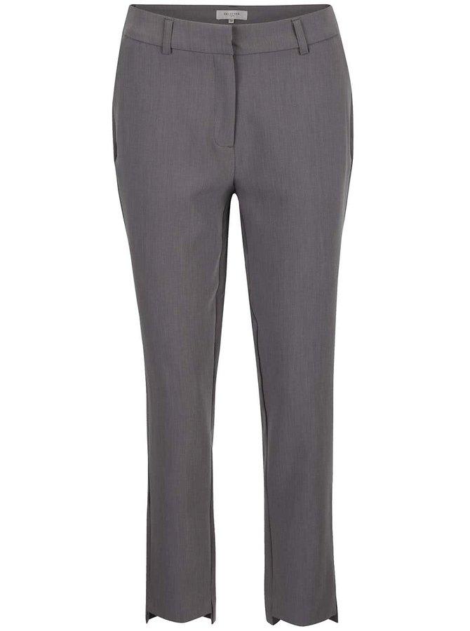Šedé formální kalhoty Selected Femme Amila