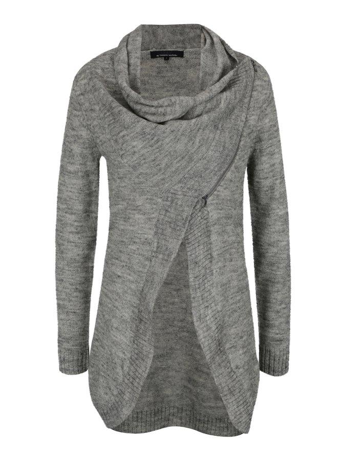 Světle šedý žíhaný cardigan ONLY Hayley
