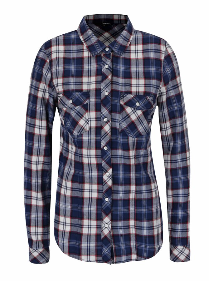 Bílo-modrá kostkovaná košile s kapsami TALLY WEiJL