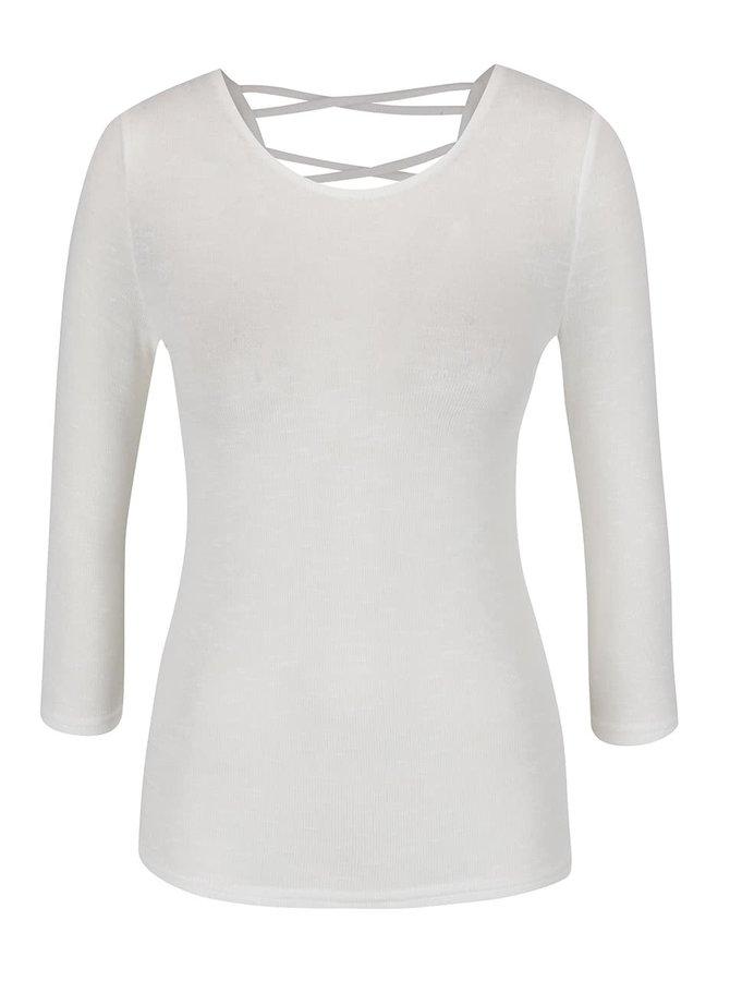 Krémové tričko s 3/4 rukávem Zabaione Anna