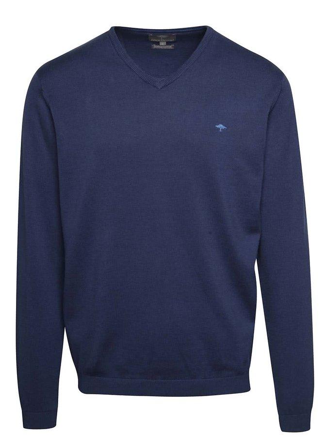 Modrý svetr s véčkovým výstřihem Fynch-Hatton