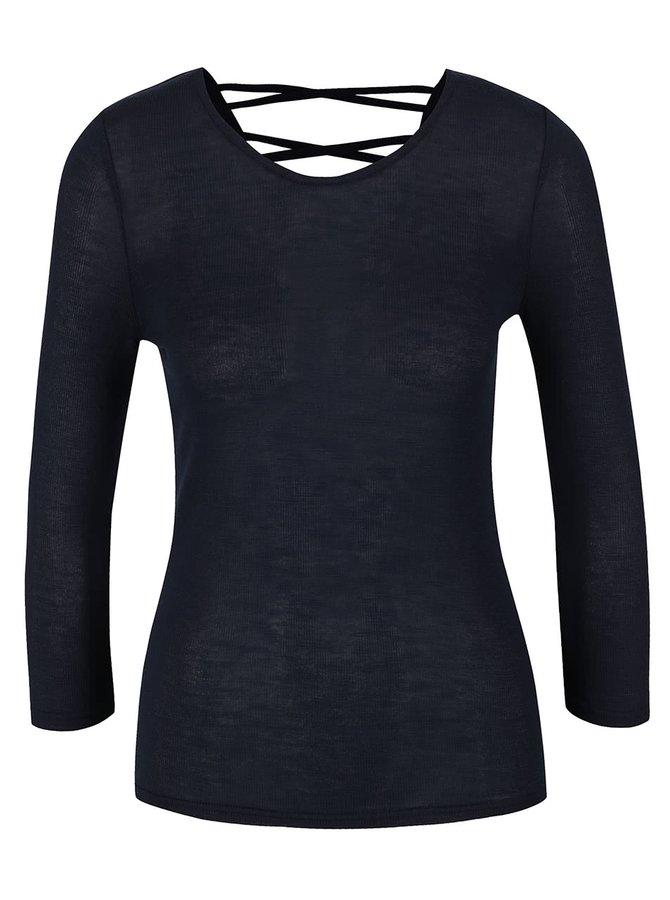 Tmavě modré tričko s detaily na zádech Haily's Jenny