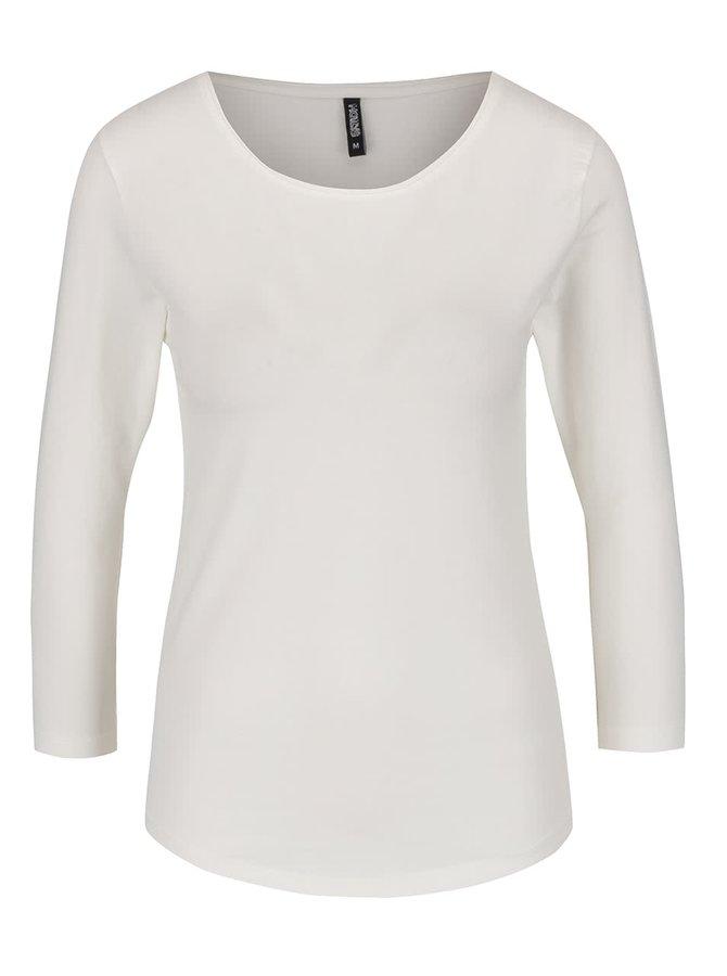Krémové basic tričko s 3/4 rukávem Haily's Tina