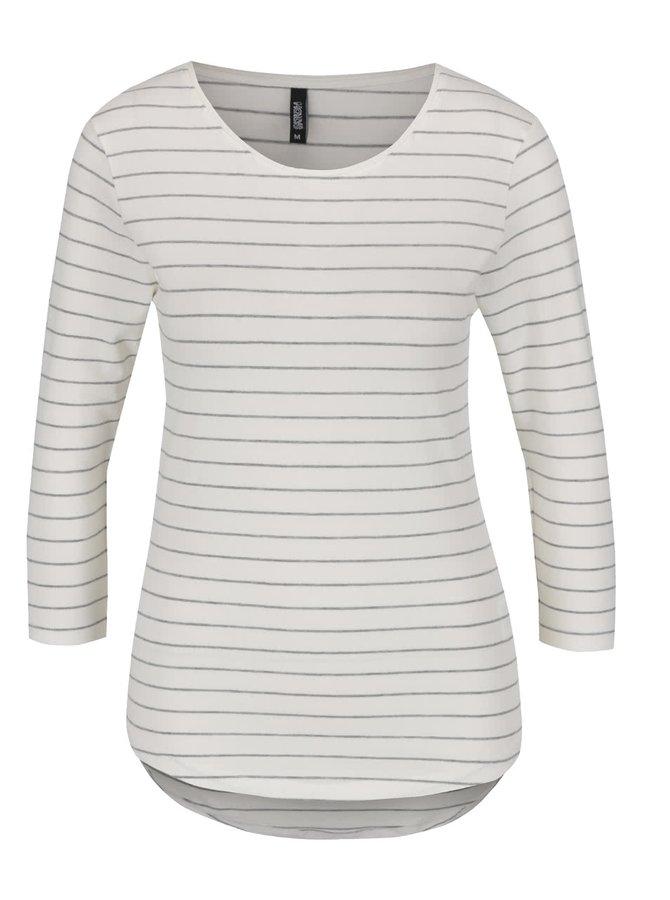 Krémové tričko se šedými pruhy Haily's Tina