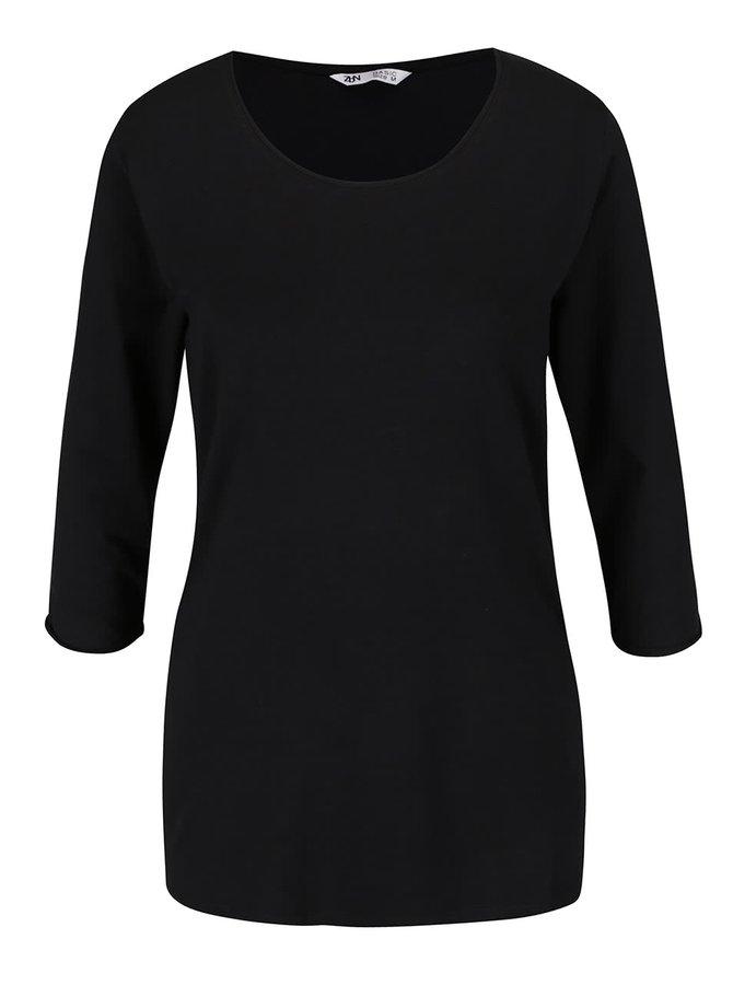 Černé basic tričko s 3/4 rukávem Zabaione Anna
