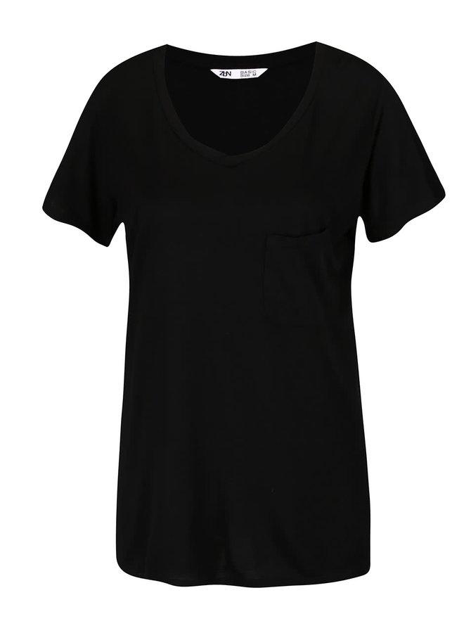 Černé volné basic tričko Zabaione Eva