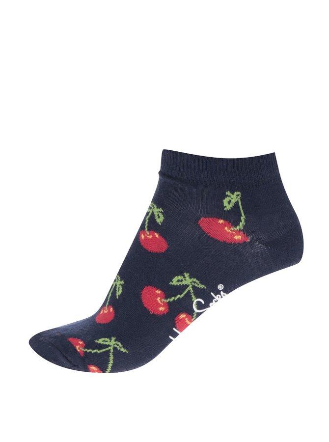 Șosete de damă Happy Socks Cherry albastre cu model