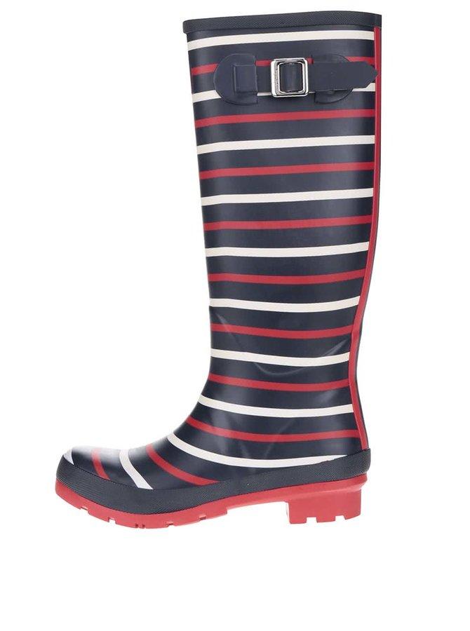 Cizme de ploaie albastru&roșu Tom Joule print impermeabile