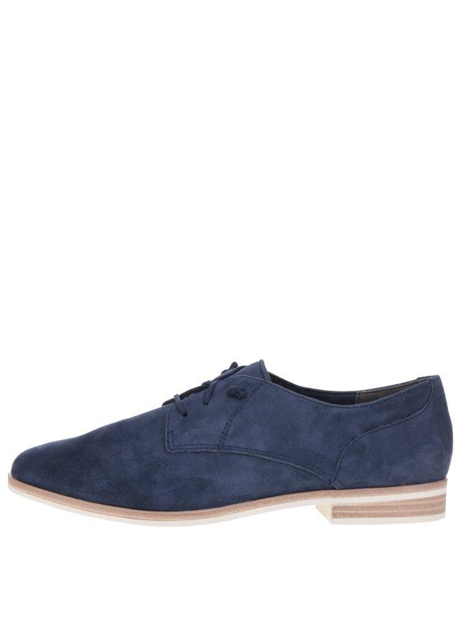 Pantofi albaștri Tamaris din piele întoarsă