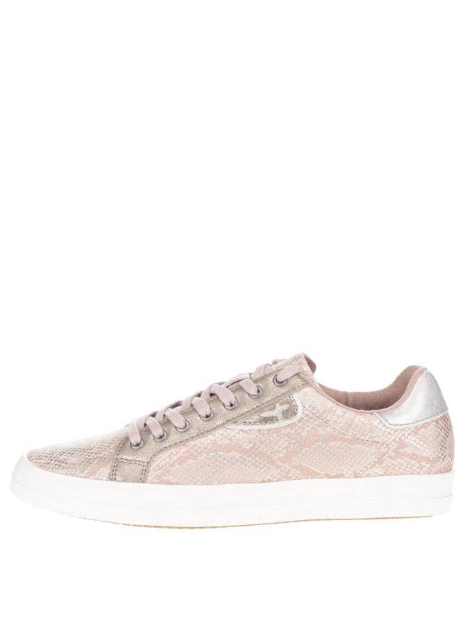 Růžové třpytivé tenisky Tamaris