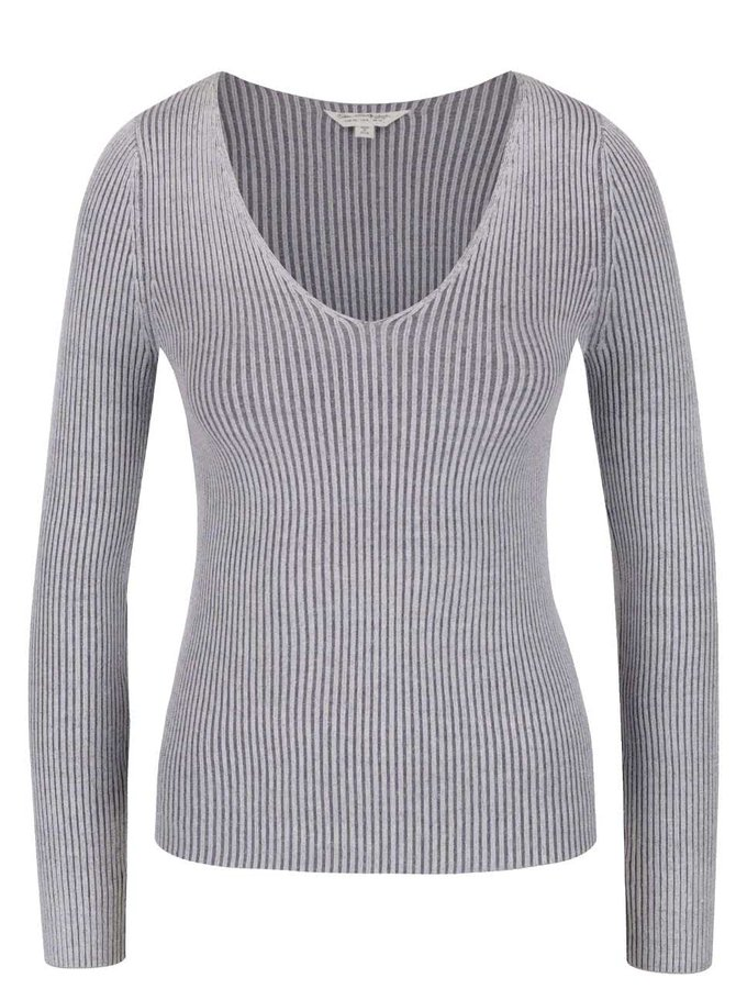 Bluză gri Miss Selfridge din jerseu subțire