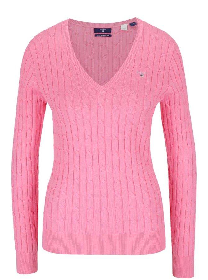 Růžový dámský svetr GANT