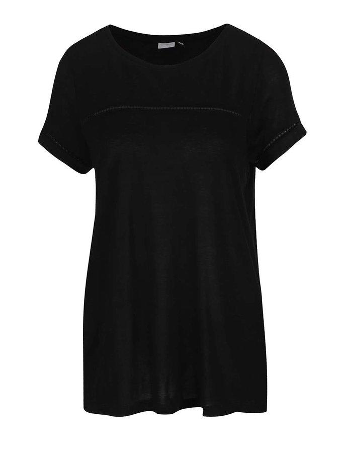 Černé tričko s krátkým rukávem Jacqueline de Yong Sika