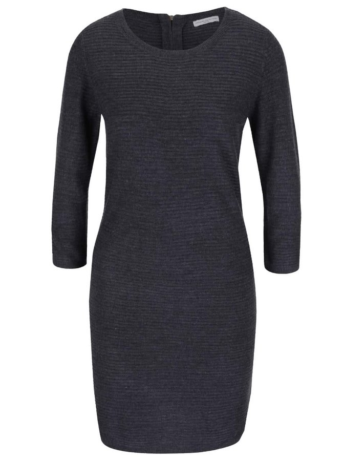 Modré svetrové šaty s 3/4 rukávy Jacqueline de Yong Mathison