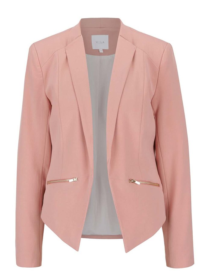 Blazer roz VILA Zip