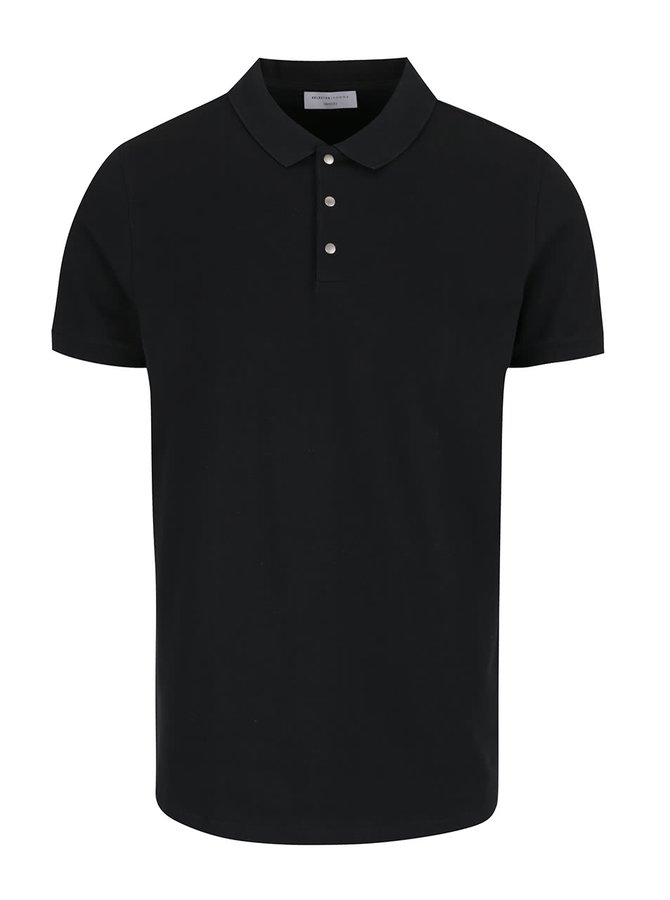 Černé polo triko Selected Homme Damon