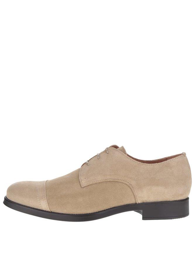 Pantofi bej Selected Homme Oliver din piele întoarsă