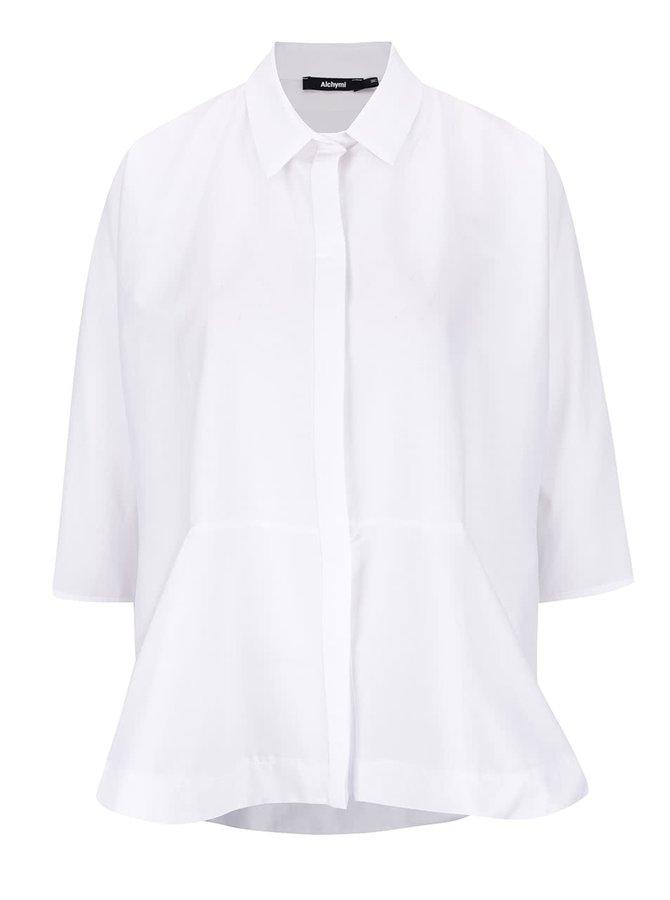 Bílá volná košile s 3/4 rukávy Alchymi Alia