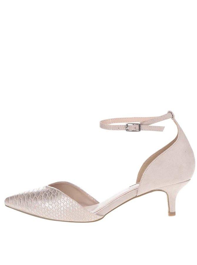 Béžové sandálky na podpatku Miss KG