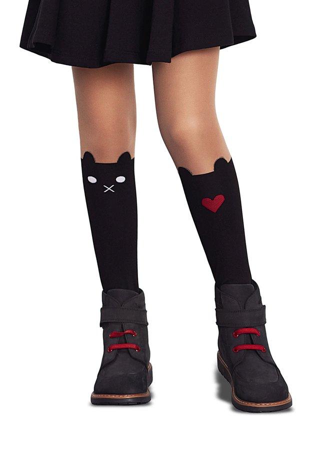 Dresuri negre Penti Sweet 30 DEN cu model pentru fete