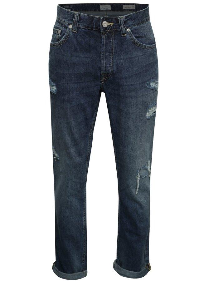 Modré džíny s potrhaným efektem ONLY & SONS Weft