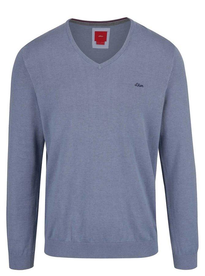 Modrý pánský lehký svetr s.Oliver