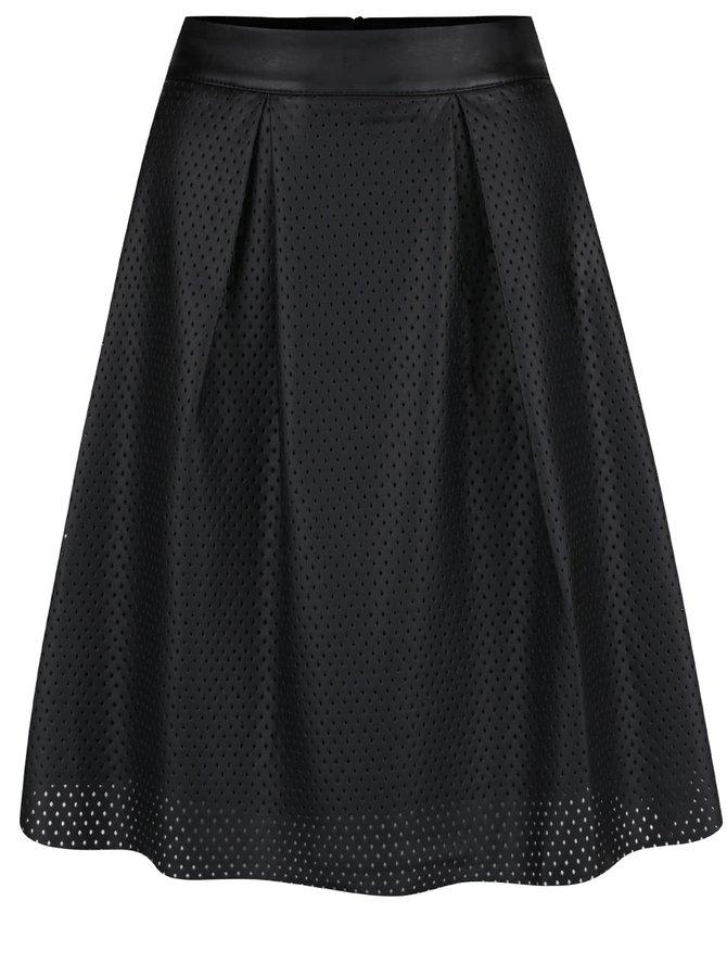 Černá koženková sukně Lavand