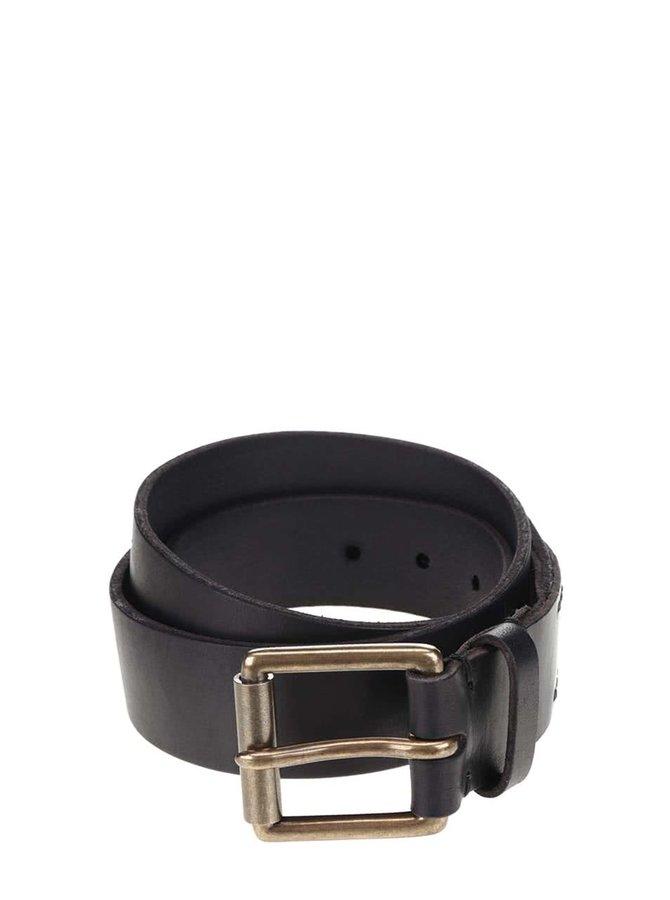 Černý pánský kožený pásek Superdry