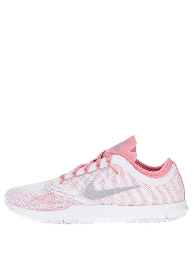 Růžovo-bílé dámské vzorované tenisky Nike Flex Adapt Premium