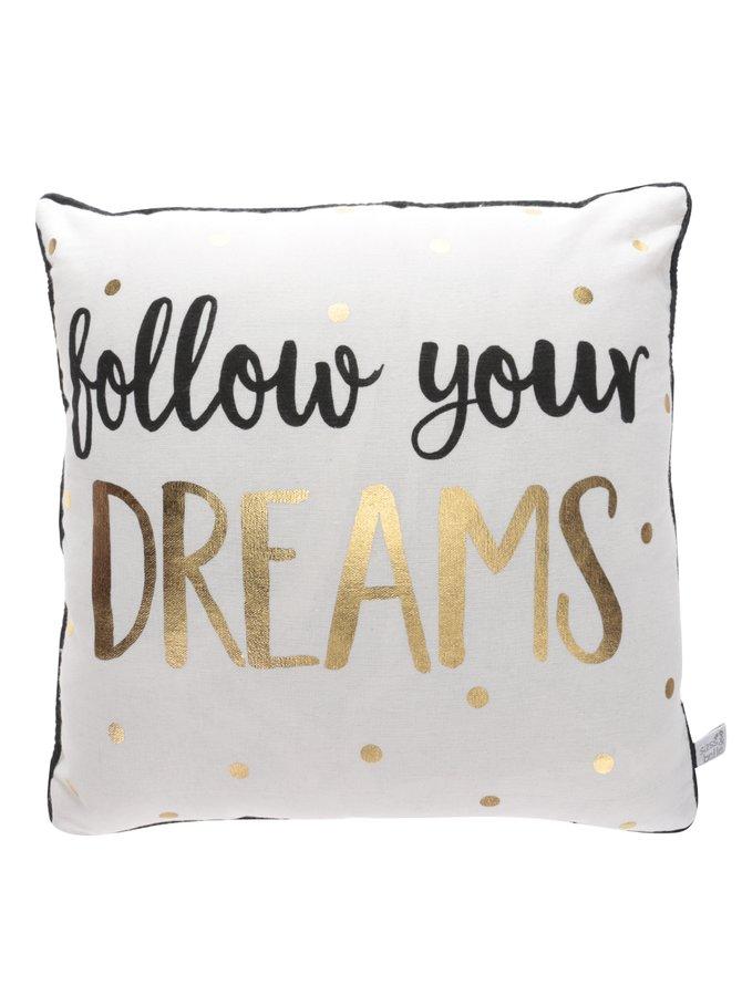 Béžový polštářek s potiskem Sass & Belle Dreams