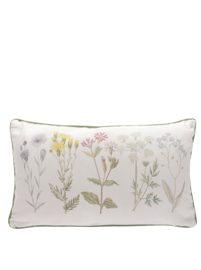 Béžový polštářek s potiskem květin Sass & Belle
