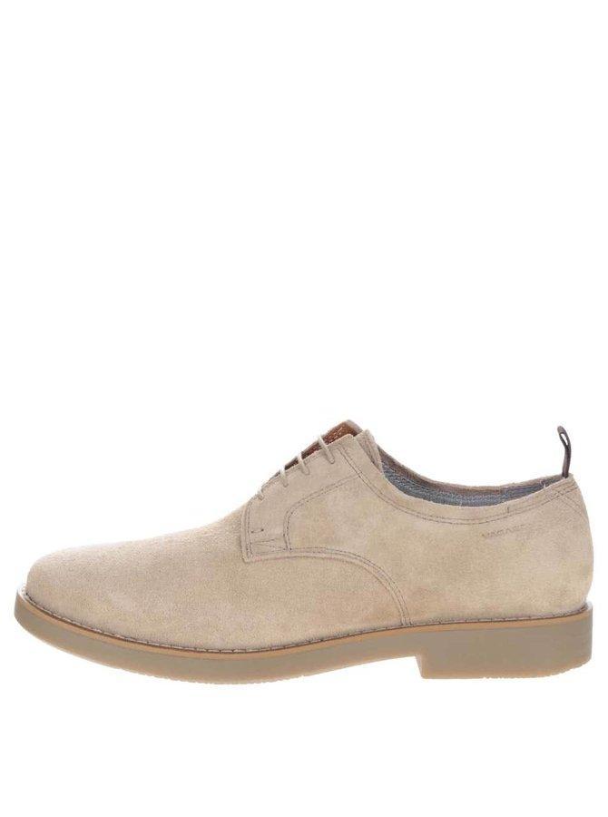 Pantofi bej Vagabond Belgrano din piele întoarsă pentru bărbați