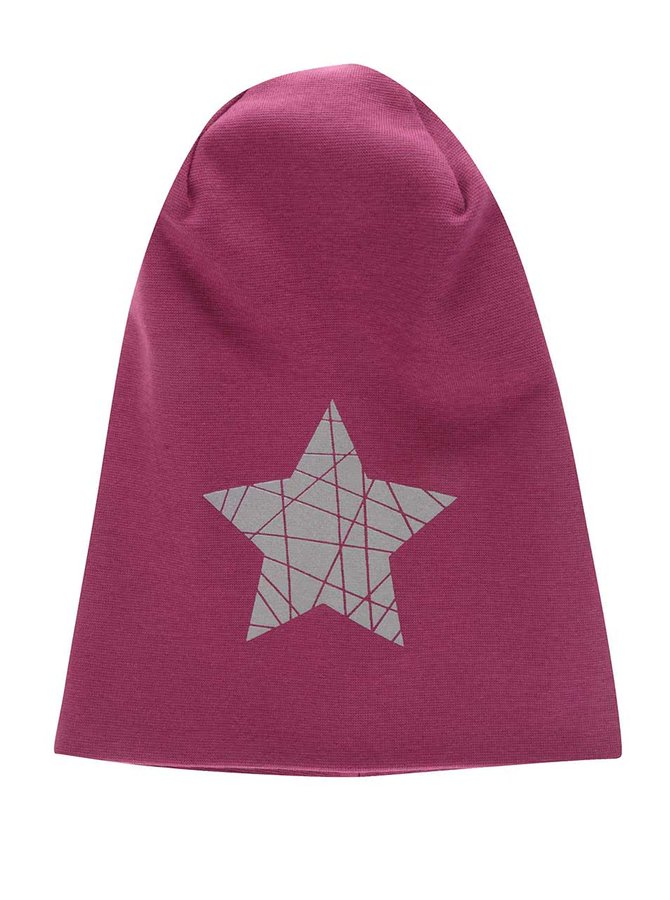 Căciulă roz închis name it Moppy cu print cu stea pentru fete