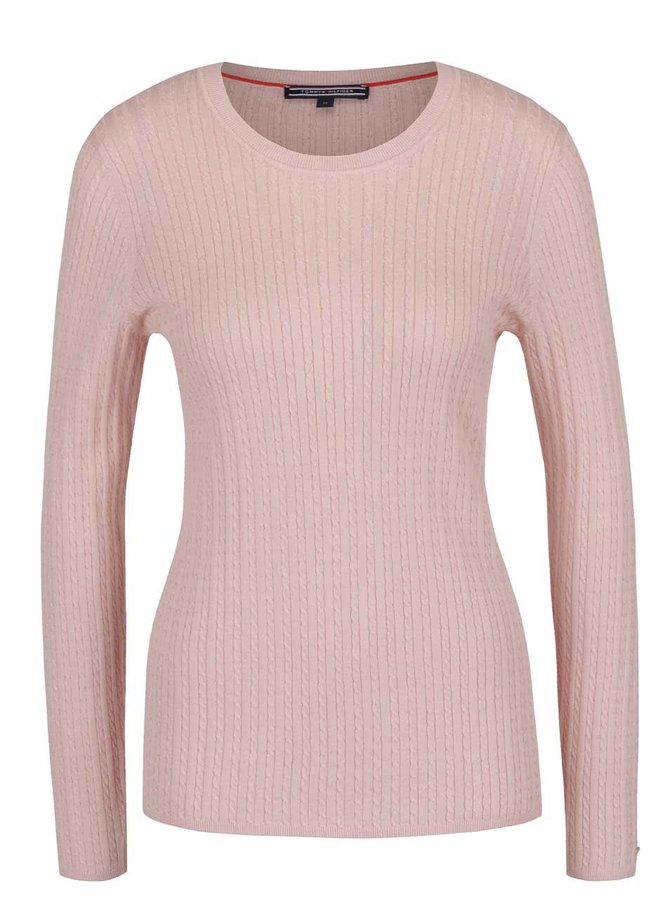 Světle růžový dámský svetr Tommy Hilfiger